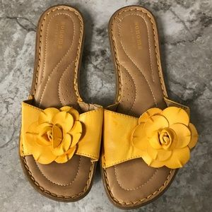 Sonoma yellow slide floral sandals